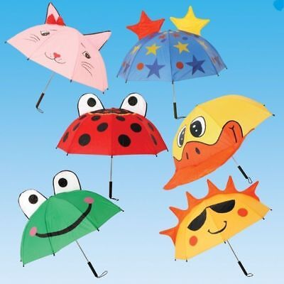 New Kids High Quality Animal Design Dome Brolly Rain Umbrella Children Gift