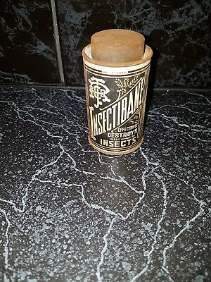 Vintage 1950's Insectibane tin./Australian/Grocery