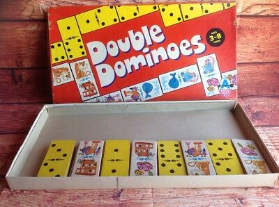 Double Dominoes Vintage RETRO BOARD GAME