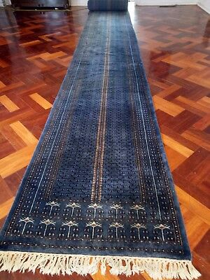 Antique Balouchi Hand knotted Persian wool rug carpet runner