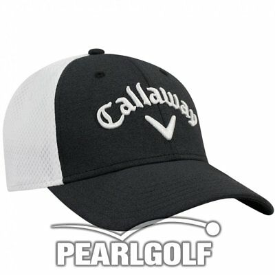 Callaway Mesh Fitted Cap - Modell 2017 - Golfcap - Charcoal/weiß