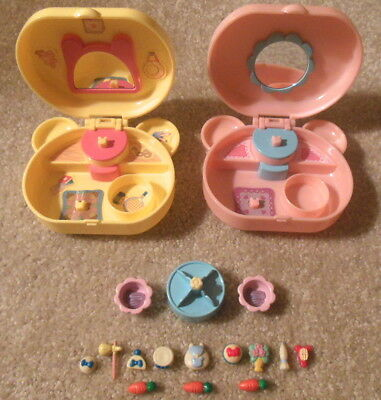 Epoch Hamtaro Ham Ham Bijou Miniature Compact Playsets Accessories Polly Pocket
