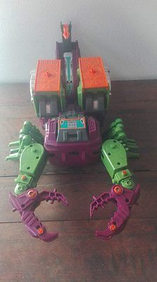 Transformers g1 Headmasters SCORPONOK Scorpion Lord Zarak