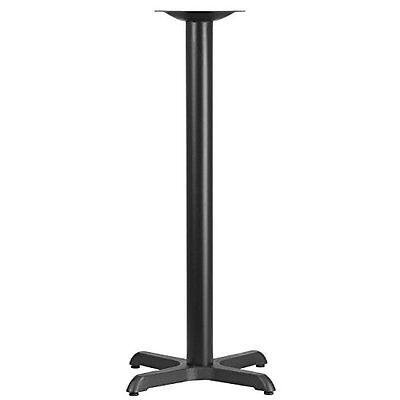 22'' Restaurant Furniture Table X-Base With 3'' Dia. Bar Height Column