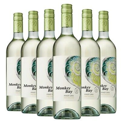 Monkey Bay Pinot Gris 2016 (6 x 750mL), Gisborne, NZ.