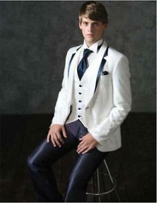 Custom Made Groom Men's Suits Tuxedos Groomsman Best Man Wedding Prom Suits