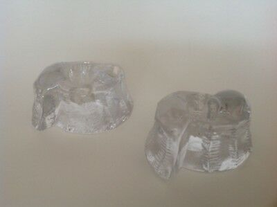 2 Galway Irish  Crystal Glass Candle Holders