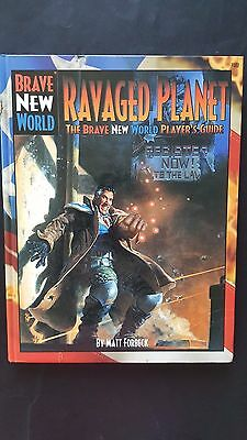 "BRAVE NEW WORLD RPG ""RAVAGED PLANET"" PLAYERS GUIDE MINT HC UNOPENED 160 pgs"