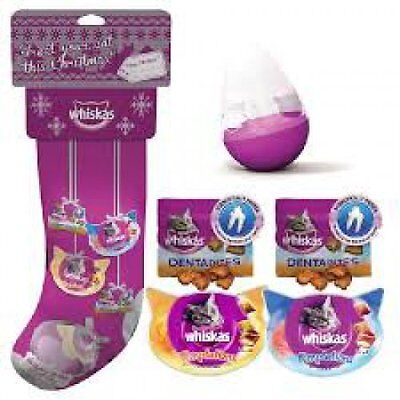 Whiskas Christmas Cat Stocking Treats and Toy x 3 stockings Great Buy!