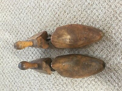 Pair of American Wooden Shoe Trees