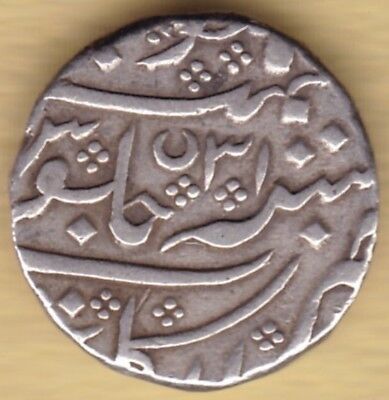 French India Silver 1 Rupee Ah31 Arcot Mint #q37