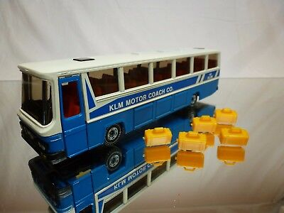 Siku 3417 Man Reisebus + Luggage - Klm Motor Coach - Blue 1:50 Very Rare - Good