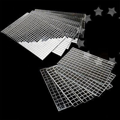 Self-Adhesive REAL Glass Craft Mini Square & Round Mirrors Mosaic Tiles 5/10mm