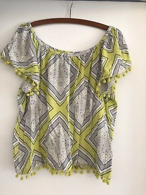 Seed Women's Patterned Off Shoulder Top Size S Excellent Condition