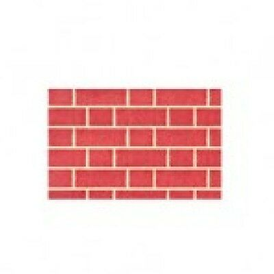 """Dolls House Red Brick Exterior Paper  20"""" X 30"""" Wallpaper Modelling Paper"""