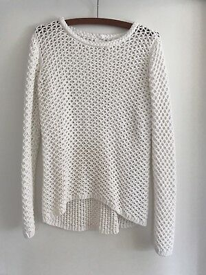 Seed Women's Summer White Crochet Jumper Size S Excellent Condition