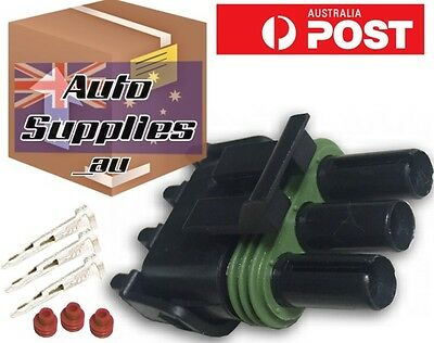 3 pin MAP Sensor Connector Plug GM Holden Delco Weather Pack Delphi PN 12020403