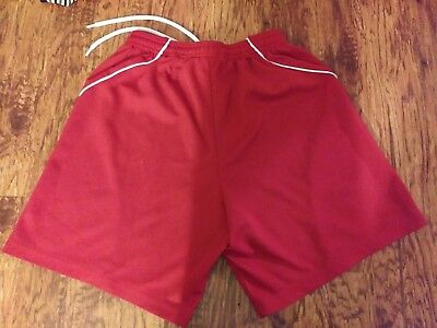 youth sz L red addidas clima-cool sport shorts