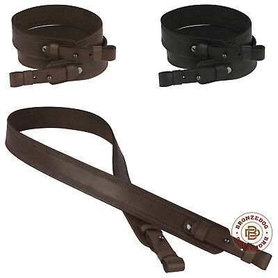 Hunting Leather Rifle Shotgun Gun Sling Strap Shooting Tactical Embossed