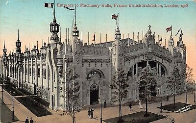 POSTCARD     EXHIBITIONS  London  1908  Entrance  to  Machinery  Halls