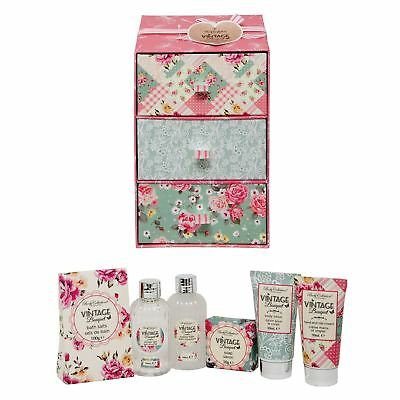 Body Collection Vintage Pamper Drawers Shower Bath & Hand Christmas Gift Set