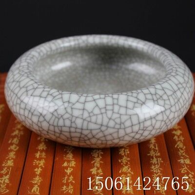 Chinese folk porcelain Crack glaze writing-brush washer