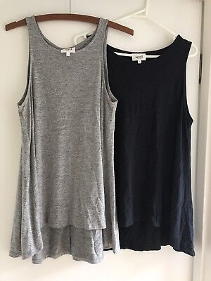 Seed Women's Grey Navy Singlet Tops Size M Excellent Condition
