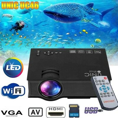 Portable 5000Lumen 1080P HD Wifi LED Projector 3D Home Cinema HDMI/SD/USB/VGA/AV