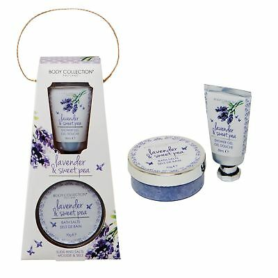Body Collection Lavender & Sweet Pea Suds And Salts Bath & Shower Gift Set
