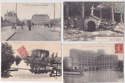 Lot 16 Cartes Postales Anciennes Cpa Cpsm Dpt 10 Aube Troyes Nogent Clairvaux