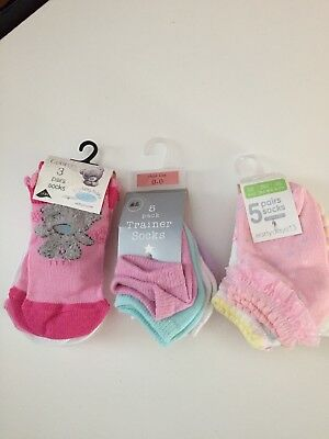 Assorted Baby Girl Socks From Birth - BRAND NEW