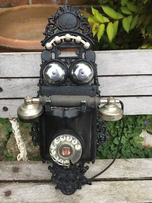 continental Cast Iron Antique Wall Telephone