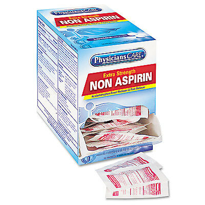 Physicianscare Non Aspirin Acetaminophen Medication Two-Pack 50 Packs/Box 90016