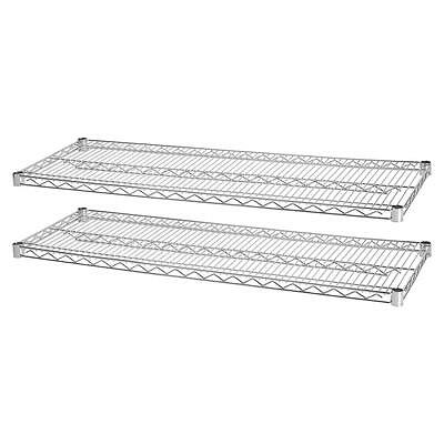 """Lorell Industrial Wire Shelving, 2 Extra Shelves,48""""x24"""", 2/Pk, CE 84180"""