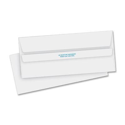 "Business Source Self-Seal Envelopes Reg Plain 4-1/8""x9-1/2"" 500/BX WE 04644"