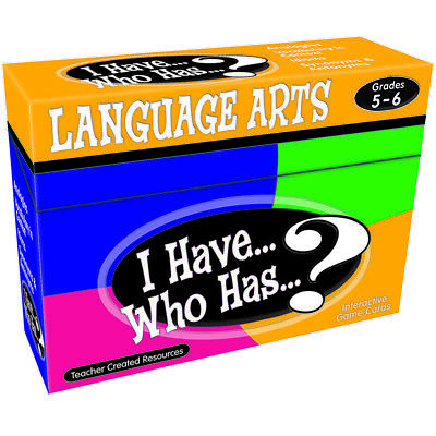 Teacher Created Resources I Have Who Has Language Arts Gr 5-6 7832