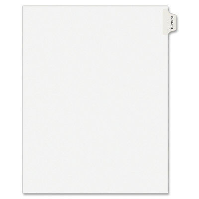 Avery Index Divider, Exhibit 11, Side Tab, 25/PK, White 82143