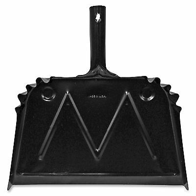 "Genuine Joe Dust Pan, Metal, 20 Gauge Steel, 15.5""x16"", Black 85151"
