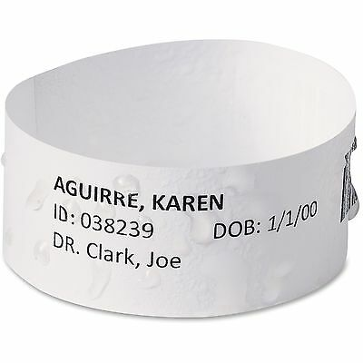 Avery Easy Band Medical Wristbands w/Chart Lbls, Med, 500/PK, WE 74436