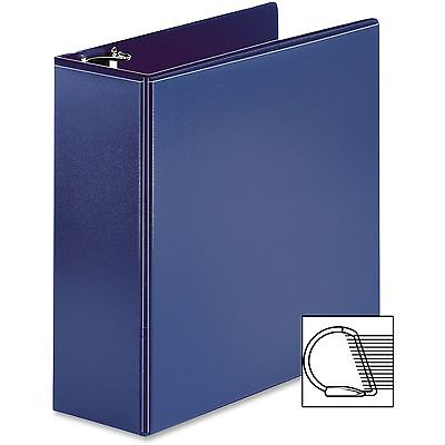 "Business Source View Binder, D-Ring, 4"", Navy 28456"