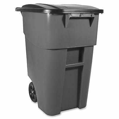 Rubbermaid Commercial Products Rollout Container w/Lid 50 Gal Gray 9W2700GRAY