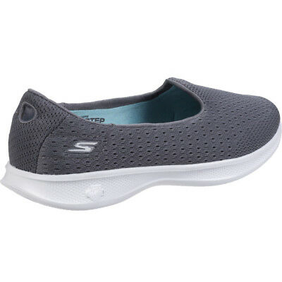 Details about Womens Skechers Navy Go Step Lite Origin Slip On Textile Walking Trainers Shoes