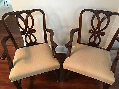 Baker Furniture Mahogany Chippendale Armchairs (sold as pair)