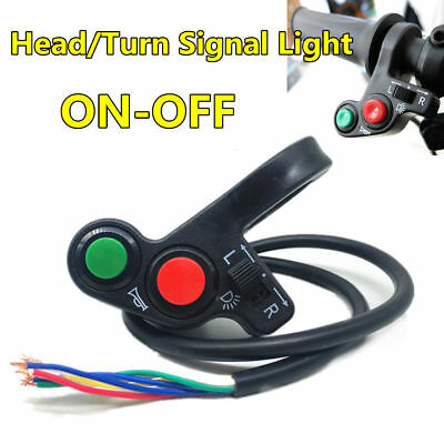 """Motorcycle 3in1 Head/Turn Signal Light/Horn ON-OFF Switch Handlebar Button 7/8"""""""