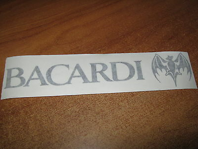 Bacardi - Vinyl Sticker - In Black - New