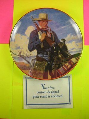John Wayne Spirit of the West porcelain collectible plate by The Franklin Mint