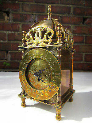 Charming Rustic Vintage Smiths Lantern Carriage Gilded 18cm Clock - Uses Battery