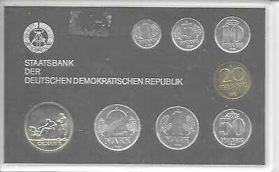 Germany(East) 1985  Mint Set(7 Coins) KM-MS11 Choice UNC Original Holder