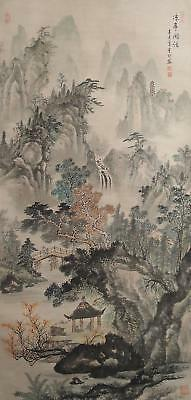 #8413 Chinese Hanging Scroll: Mountain Landscape