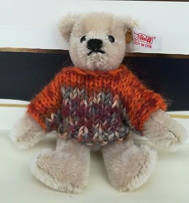 **Bear knits** Hand Knitted little teddy jumper  to fit 10 cm bear..steiff